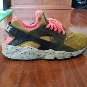 Pink and green huarache.